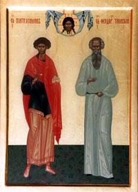 """""""Это келья старца, а это, - указывая на икону Александра Невского, - икона его ангела, а эта икона его брата, - и указали икону великомученика Пантелеимона, так как и ему, старцу, дано от Бога исцелять больных""""."""