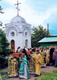 Крестный ход с мощами святого праведного Феодора Томского