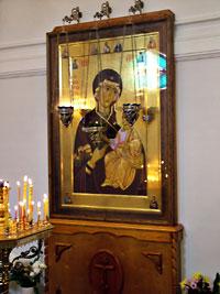 Список Иверской иконы в специально устроенной часовне в центре г.Томска
