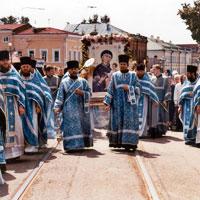 30 июня 2002 года - Встреча прибывшей с Афона Иверской иконы Божией Матери