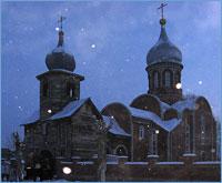 Архиепископ Ростислав совершил малое освящение нижнего придела храма и Божественную литургию в пос.Моряковский Затон