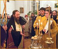 Архиепископ Ростислав совершил Всенощное бдение в храме святого благоверного князя Александра Невского г. Томска
