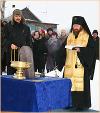 В с.Малиновка заложен храм в честь святителя Спиридона Тримифунтского