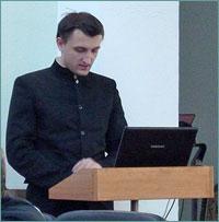 Студент Томской духовной семинарии выступил с сообщением о работе с глухими и слабослышащими на ХХ Международных Рождественских чтениях