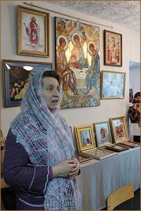 Выставка вышитых икон «Нити небесного света» открылась 1 апреля в Музее Томского района в д.Кисловка
