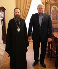 Губернатор Томской области поздравил архиепископа Ростислава с праздником Воскресения Христова