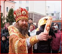 Благодатный огонь из Иерусалима доставлен в Томск