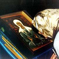 Святейший Патриарх Московский и всея Руси Алексий передал для Томской епархии частицу мощей святой блаженной Матроны Московской