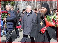 Архиепископ Ростислав принял участие в торжественных мероприятиях по случаю Дня победы