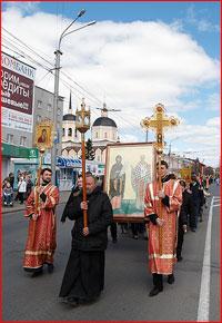 Впервые Крестный ход прошел по главной улице Томска