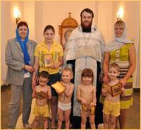 Воспитанники детского центра «Луч» приняли крещение