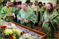 Начались торжества, посвященные св. праведному Феодору старцу Томскому