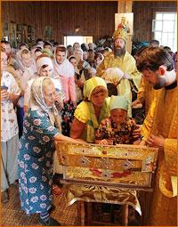 В Каргасокский район была принесена десница святителя Макария (Невского)