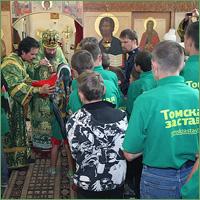 Архиепископ Ростиславов совершил богослужение в «томской келии» преподобного Сергия Радонежского