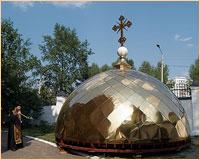 Архиепископ Ростислав освятил кресты и купола Петропавловского собора г.Томска