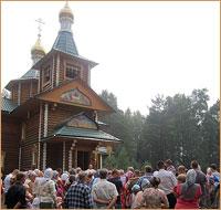 В селе Кандинка богослужение в престольный праздник  впервые совершалось архиерейским чином