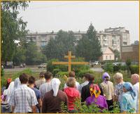 Жители г.Асино помолились на месте строительства будущего храма