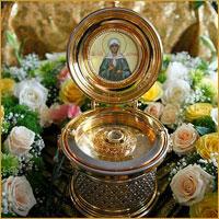 Информация о принесении святых мощей блаженной Матроны Московской в храмы Томской епархии