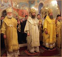 Празднование юбилея ТДС продолжилось соборным богослужением в Богоявленском кафедральном соборе