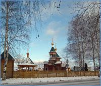 Губернатор Томской области посетил храм Преображения Господня пос. Белый Яр