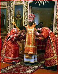 Архиепископ Ростислав совершил Божественную литургию в Свято-Троицкой церкви г.Томска