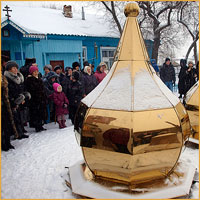 Строящийся храм в с.Мельниково вскоре украсится куполами и крестами