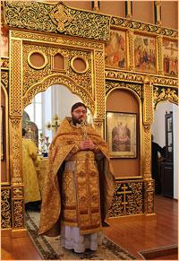 В престольный день в храме святого благоверного князя Александра Невского была совершенна праздничная Литургия