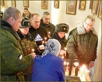 В годовщину вывода советских войск из Афганистана в Богородице-Владимирском храме Северска была отслужена панихида