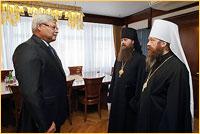 Состоялась встреча митрополита Ростислава с губернатором Томской области