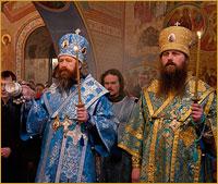 В праздник Благовещения Пресвятой Богородицы состоялось первое совместное богослужение архиереев Томской митрополии