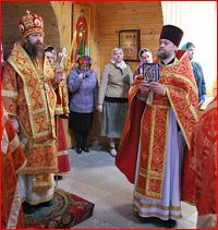 Митрополит Ростислав совершил Божественную литургию в с.Зоркальцево