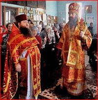 Митрополит Ростислав совершил Божественную литургию в г. Асино