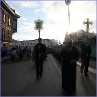 В канун праздника Происхождения честных древ Животворящего Креста Господня в Томске был совершен Крестный ход