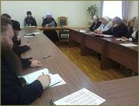 Заседание Учёного совета Томской духовной семинарии началось с молитвы об усопшем преподавателе