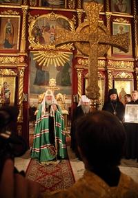 Святейший Патриарх Кирилл посетил Петропавловский собор г.Томска