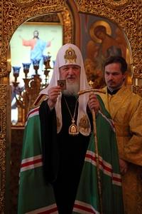 Предстоятель Русской Церкви совершил Литургию в Богоявленском кафедральном соборе г. Томска