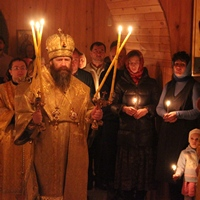 Митрополит Ростислав совершил Литургию на Одигитриевском приходе в с.Зоркальцево