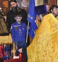 В Томск прибыла частица Вифлеемского огня, зажженная от негасимой лампады в храме Рождества Христова в Вифлееме.