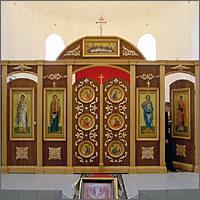 Иконостас новосооруженного Преображенского храма