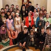 Ученики томских воскресных школ побывали на приеме у Иерусалимского Патриарха Феофила