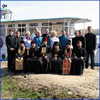 Участники Крестного хода по рекам Томь и Обь