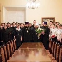 Студенты семинарии поздравили Владыку ректора с Пасхой