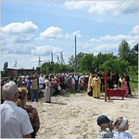 9 июля 2006 г. Архиепископ Томский и Асиновский Ростислав совершил освящение закладного камня в основание храма в честь св. новомученицы  Татианы в с. Богашево