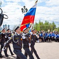 Представители Братства православных следопытов Томской епархии участвовали в Георгиевском параде в Москве и Кемерово