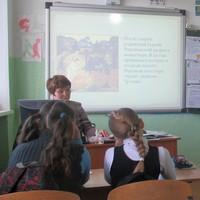 В Калтайской школе прошел открытый урок о преподобном Сергии