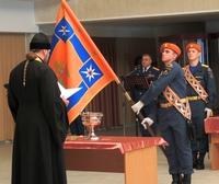 В Специальном управлении федеральной противопожарной службы г.Северска состоялось освящение знамени