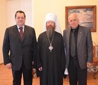 Состоялась встреча митрополита Ростислава и генерального директора РТРС Романенко Андрея Юрьевича