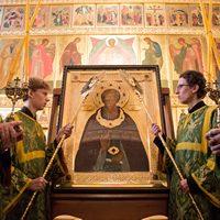 Томск встретил чтимую икону преподобного Сергия Радонежского