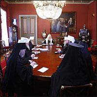 27 марта 2007г. под председательством Святейшего Патриарха Московского и всея Руси Алексия II состоялось заседание Священного Синода Русской Православной Церкви