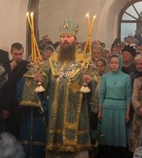 Епископ Силуан возглавил праздничные богослужения в Богородице-Алексиевском монастыре г.Томска